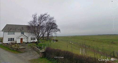 House next to open land, Pilling, Lancashire