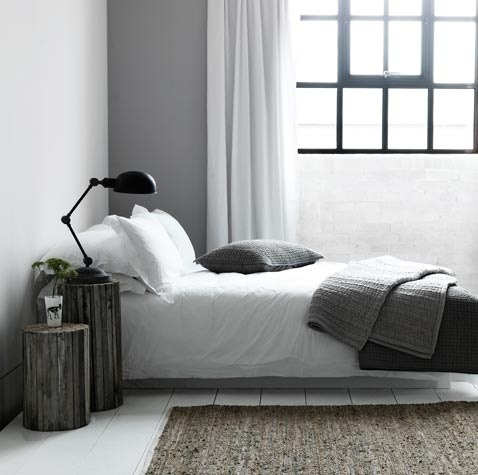 justthedesign:  Grey Bedroom Design By French Connection
