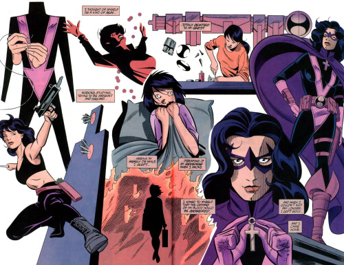 The Best of the Huntress in Comics: Cry for Blood It's no longer 'Good Friday' on my corner of the planet (sadface), but no matter, cause the review for this week's 'Best of the Huntress' story still got published on time. I just couldn't publish it here cause Tumblr's server crashed, but that's okay too cause it took all day to write anyway. This story is six chapters long, but the job still got done! When it came to picking a Huntress story to review for a strictly Christian holiday, I felt today was an appropriate day for a Helena Bertinelli story. While unfortunately it was very difficult to find a story to fit in with the theme of Good Friday (that is the actual crucifixion of Christ), I felt that it didn't really matter much. While she's not necessarily seen as a 'Saviour,' Helena Bertinelli has always been a character who put others before herself, and was even shown to be self-sacrificing—willing to give her own life even—to ensure the safety others, which is very much the whole point of Christ's crucifixion. It was his sacrifice to save the whole of humanity from sin. With Cry for Blood, there's even the added bonus of a 'Final Supper' that set the course for Helena Bertinelli's fate into motion. Aside from keeping with my tradition of posting one of these during every major holiday (or at least ones known to the West) throughout the year, I also want to dedicate this review to the wonderful Stephanie who runs La Cacciatrice, and whose birthday was earlier this week. I know it's a late birthday present, but seeing how gravely disappointed she was with the way Helena Bertinelli was misrepresented on Arrow, I felt this the best way to make her week better and bring a smile to her face in a very big and significant way. I think this review should also help generate interest in the comic book version of the character, because it's most definitely one of the best Helena Bertinelli stories ever told, and certainly a MUCH better story than the one audiences new to the character got on the show. :) Fair warning though, I do spoil the hell out of this story because I did cover ALL six chapters in depth. Literally. But! If you want to read the story first, you can buy all six issues for $11.94 total on Comixology, which is not a bad deal considering what the trades sell for these days! :) That being said, happy reading! And Steph, I hope this turns out to be the best birthday gift you've gotten all week. :)