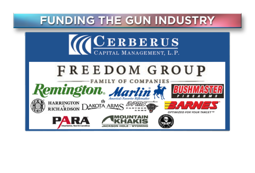 "Who owns the gun industry? Shareholders of Cerberus Capital Management managed to force the firm to sell its stake in the country's largest gun manufacturer, The Freedom Group. So who's holding the proverbial smoking gun now? We talk shop on the relationship between guns, money and business on tonight's ""Viewpoint"" (8E/5P)."