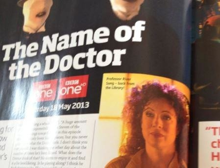 "doctor-who-companion:  leadworthchronicle:   The Name of the Doctor – River Song is back… but which one? [WARNING: MASSIVE SPOILERS] This is an excerpt from the latest of issue of Doctor Who Magazine, which hits shelves first thing tomorrow. Read the caption. Trust me, your mind will be blown!    DOES THIS SAY ""BACK FROM THE LIBRARY""???????  Omfg"