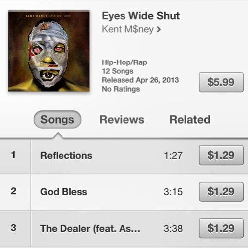 Make sure you cop my bro @kentmoney's new album #eyeswideshut