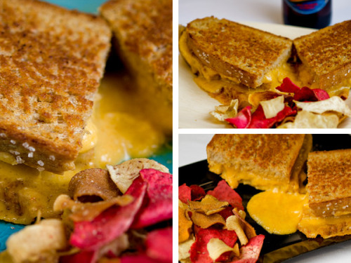 Grown Up Beer-Cheese Grilled Cheese