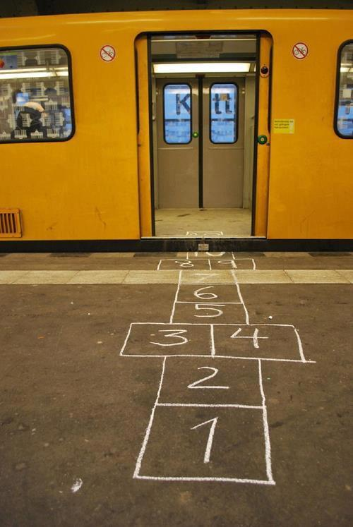 I would totally play this game. U-Bahn, Kotti, Berlin.