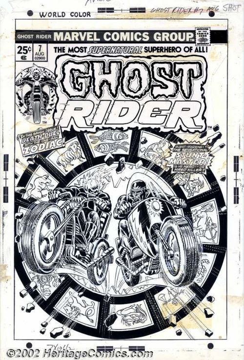 The cover to GHOST RIDER #7 by John Romita