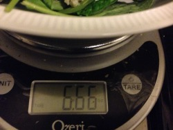 That'll teach me to never measure my portion sizes…