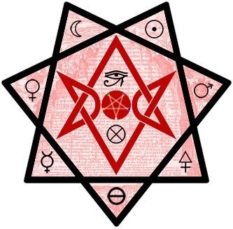 discovering-the-arcane:  93! This is one Loaded balanced Thelemic symbol, very nice to meditate on. :) Babylon's Seal, a unique Thelemic Unicursal Hexagram, the 3 alchemical symbols of Salt,Sulphur,& Mercury at the bottom, and the rest of the Planet symbols Mars, Venus, The Sun & the Moon. The symbol of Earth or Malkuth under the upside Down Elemental Pentagram in the middle. And last but most definitely not Least the Eye of Horus on top of the Upside Down Elemental Pentagram, the only two traditional planet symbols that are not on this symbol are Saturn and Jupiter. 93,93/93  Nice. I've been haunted by Babalon since the beginning of the month, in a good way. (How'd that happen, I wonder?…)