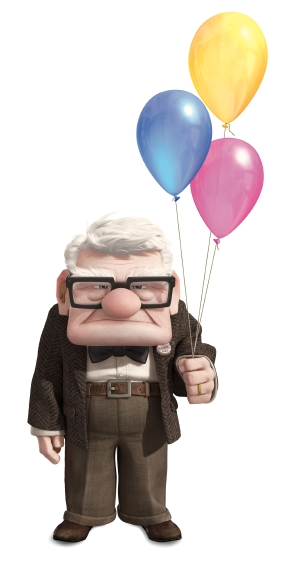 disneypixar:  There's just something about a curmudgeonly old man holding a bunch of balloons. There's an interesting story there…