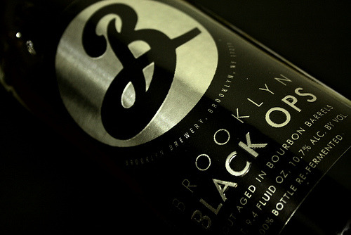"do you want this beer? do you? brooklyn brewery black ops, limited run, not a lot of it around. we got our hands on some, but we've got it under lock and key in the back room. if you want the goods you're going to need a code word. come to bleecker and tell them ""murray sent me."""