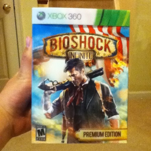 A bit late, but I finally got my hands on Bioshock Infinite! I loved the first two, so getting this was a no-brainer. Decided on the Premium Edition: worth it.  Also, this game is legitimately beautiful.   #gaming #bioshock #imstillscaredofsplicers