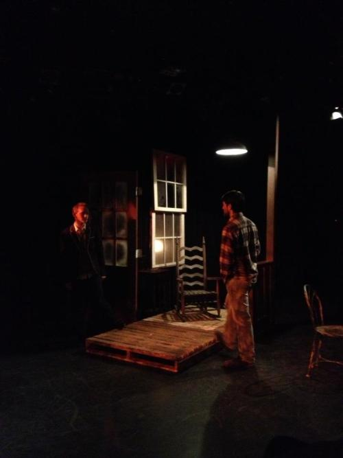 Final Dress Rehearsal for The Shadow Box. Preview Performance today 2/18/13.