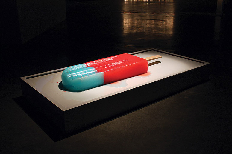 Giant Melting Popsicles by Luciana Rondolini Luciana Rondolini's project 'Calamidad Cósmica' or (cosmic calamity) is a frivolous manifestation of the latin expression 'Tempus Fugit' which translates as 'time flees' or the slow, deliberate disintegration of the artwork as metaphor for the actuality of time, its inevitable capacity to eliminate, and destruct. See more…
