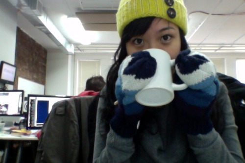 Very cold in the office this morning!