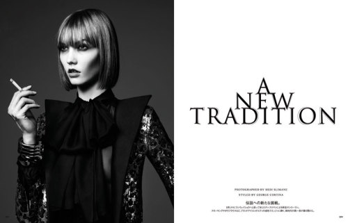 A New Tradition Karlie Kloss by Hedi Slimane for Vogue Japan June 2013 See more from this set here