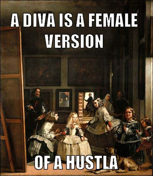 "beyoncearthistory:  Diego Velazquez, ""Las Meninas""/Beyonce, ""Diva""  MY FAVORITE PAINTING AND MY FAVORITE SONG … best tumblr ever"