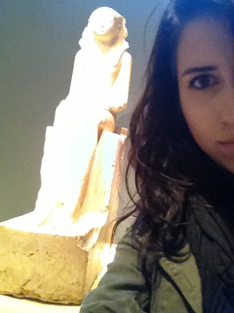 Chilling with this Egyptian thing named Hatshepsut at the Met earlier