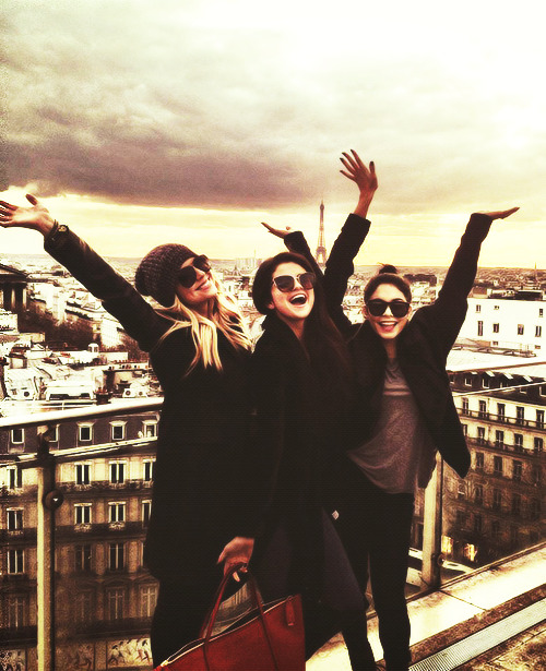 """Bonjour Paris. Spring break is here!"""