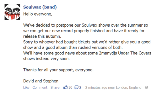 hijackfb:  NEW SOULWAX ALBUM BY AUTUMNUNDER THE COVERS SHOWS MAKING A COMEBACKAGGGGGGGGGGGGGGGGGHHHHHHHHHHHHHH  Fair Enough…
