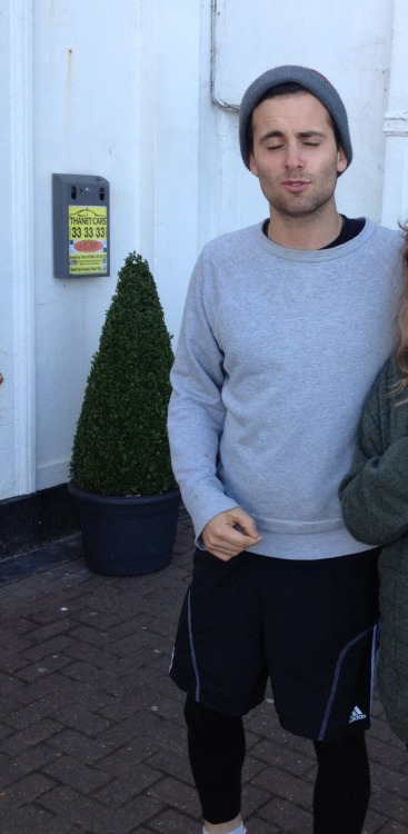 feddie-scared:  I cropped myself out of this, but how does he still look so attractive