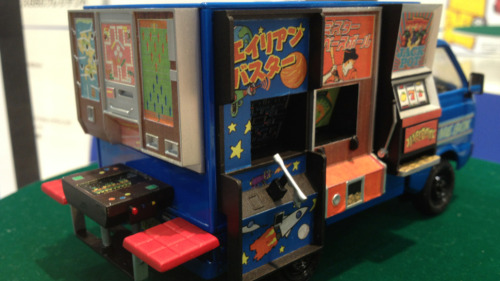 Here's a Japanese arcade on wheels. Sadly, it's only a model.