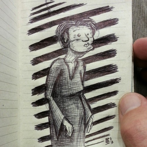 #Doodled this old lady at @sass_h0le 's #graduation #ceremony..