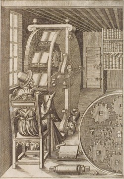 likeavirgil:  This is a bookwheel. It was a real thing in the medieval period. It is just what I need.