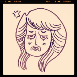 #Feeling #bleh today… #illustration #drawing #doodle