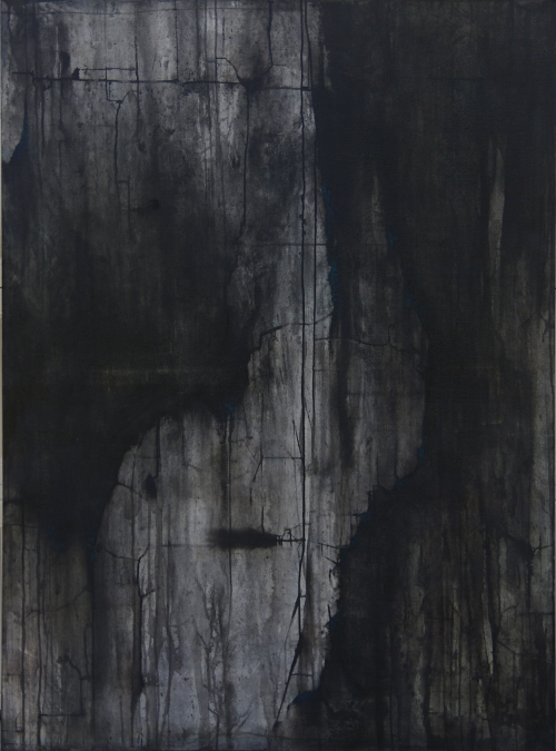 cristi-lopez:  Quentin 4' x 5.5'ink, charcoal, & gouache on canvas Cristi López 2013