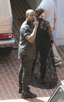 May 10, 2013 - Kim and Kanye house hunting in Beverly Hills.