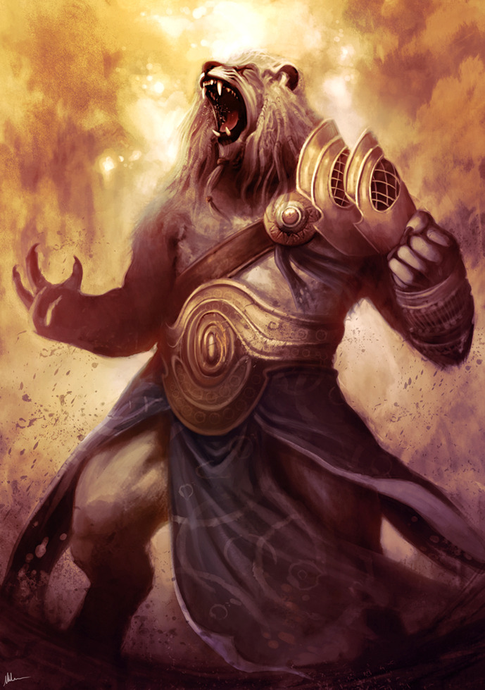 sorinthemortifier:  Ajani Goldmane by ~Blues-Design