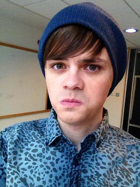 "sexualguineapig:  ""On set ready to film for 'Some Girls.' They've put me in a beanie!? Am I pulling this look off!?"""