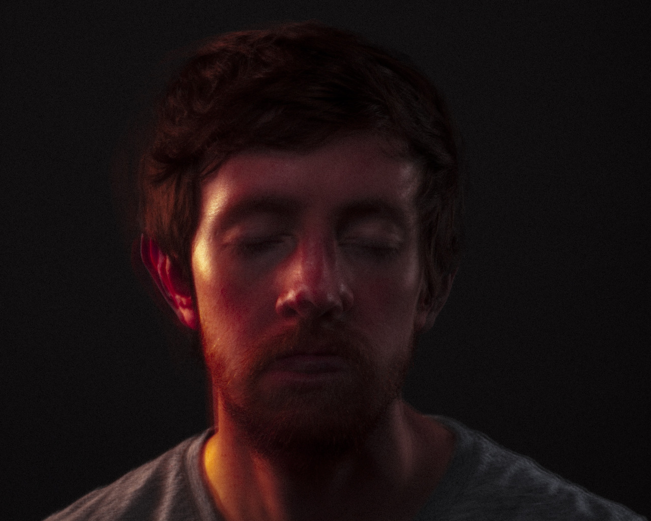Self Portrait, Spring 2013. Double exposure in camera. Color shift is caused form keeping the modeling bulb on in the rim light at camera left.  Also set up a behance profile this week.. check it and ad me if you have one.  http://www.behance.net/sethlowephoto   Have a great Sunday! Seth