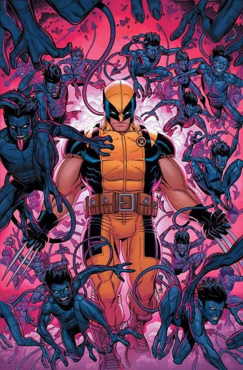djphil9999:  Cover for Wolverine and The X-men #32 featuring Wolverine and the Bamfs. Art by Nick Bradshaw. Shipping in June.