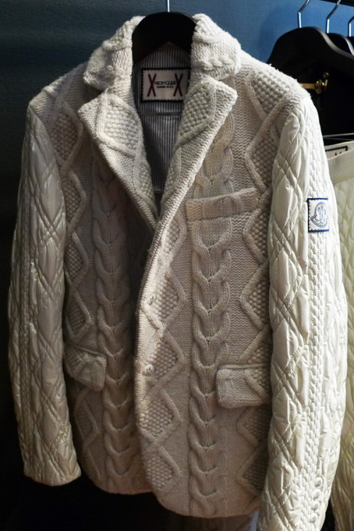 downeastandout:  MGB Cable Knit Down Blazer  Perfect combination of sweater, jacket & sport coat.