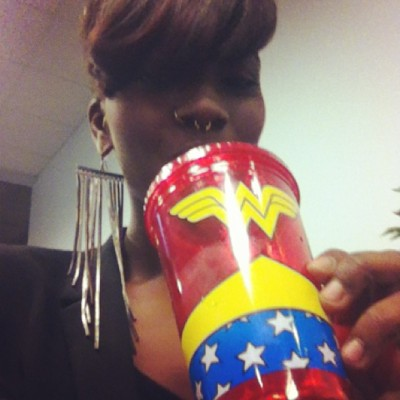 I LOVE my new Wonder Woman cup😍😜