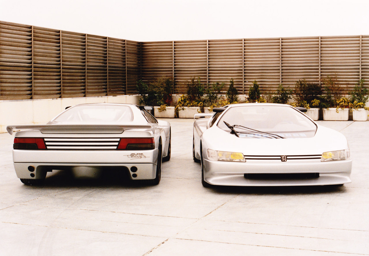 1988 Peugeot Oxia Concept Car, a high-performance touring coupe spotlighted at the Paris Auto Show.