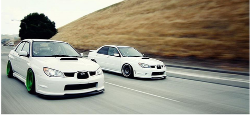 imprezagd:  lateststancenews:  STI's cruising   ^ Follow this blog if you're not. Always posting up some great stuff!