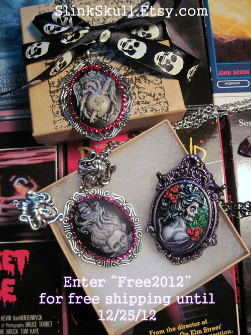 Enjoy free shipping at my shop Slink Skull Studios All items comes packed in a hand decorated gift box along with a small freebie.