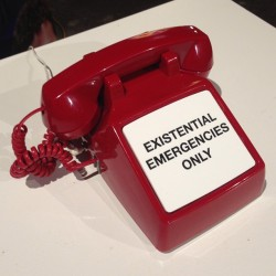 Existential Emergency Phone at F.A.T. Gold at Eyebeam Art + Technology Center