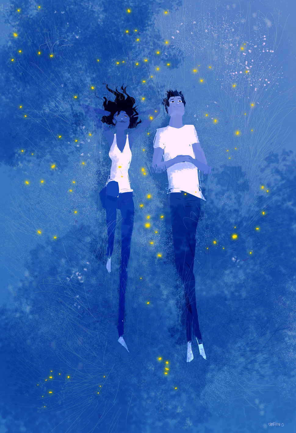 pascalcampion:  Blue Grass and Fireflies