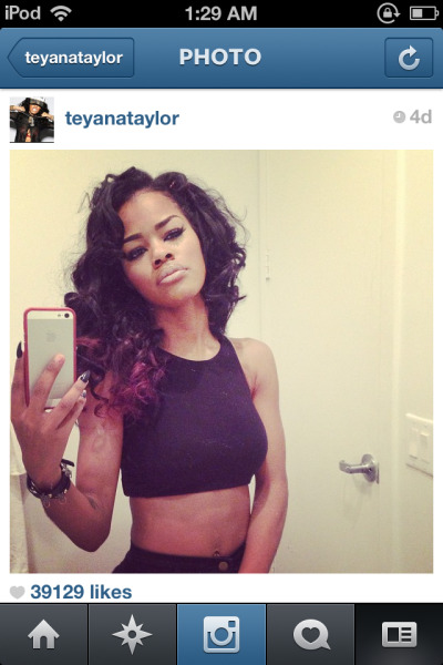 That Hair is Laid & That Make up is Sitting (as always) @TeyanaTaylor!!