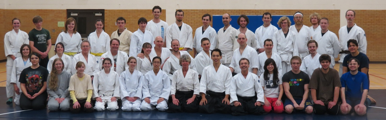 Friday night group photo from Aikido Seminar at Jyushinkan Dojo with Tatsuo Toyoda Sensei.