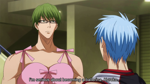 kyaputen-akashi:  Midorima the ballet dancer.