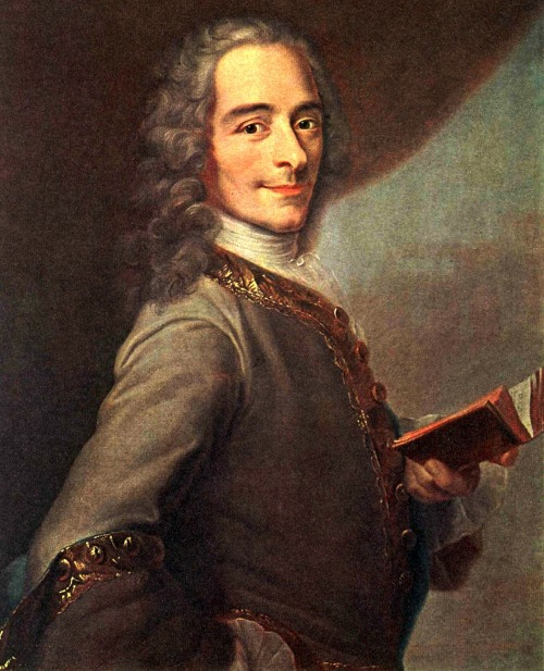 fuckyeahhistorycrushes:  This cheeky motherfucker is Voltaire, who was basically responsible for inciting the French Revolution. He was an essayist, satirist, scientist, philosopher, playwrite, playboy, and all around BAMF. He was famous for hosting bitchin' philosophy parties and for living with a married woman and her husband, and advocating for free speech, religion, and press. He wrote his entire life, including from the Bastille (he was arrested three time and exiled at least five) and lived to be 83.  Wow the amount of personality this painter managed to capture in this portrait. You can clearly see the humor in his eyes. Intelligent humor. Cleverness, confidence. He's got a million tricks up his sleeve. Don't mess with this guy.