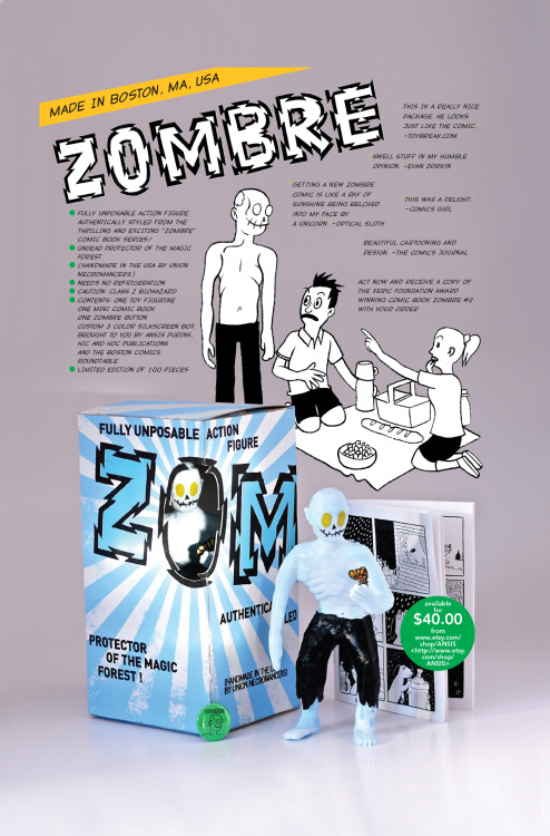 ansispurins:  A new review for the Zombre toy from Hic & Hoc! http://man-e-toys.com/2013/04/17/man-e-news-the-zombre-resin-figure-from-ansis-purins-x-hic-hoc-publications/  Still got some copies right here.