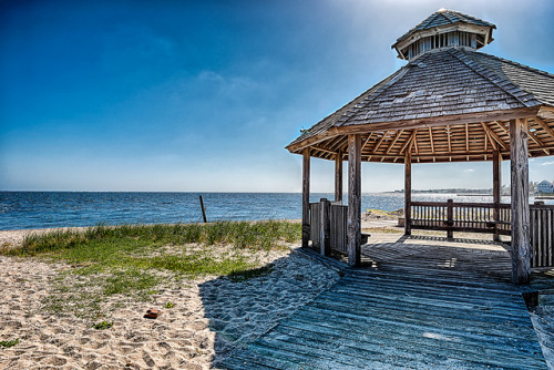 Gazebo on the Bay on Flickr.Via Flickr: Blue Point - Long Island New York