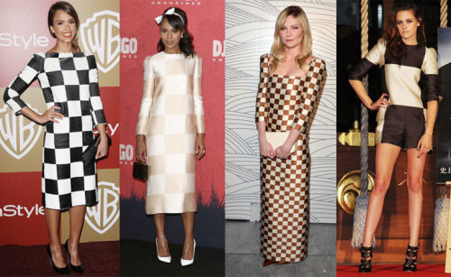 Four-way fashion faceoff! Who wore Louis Vuitton's checkers best?