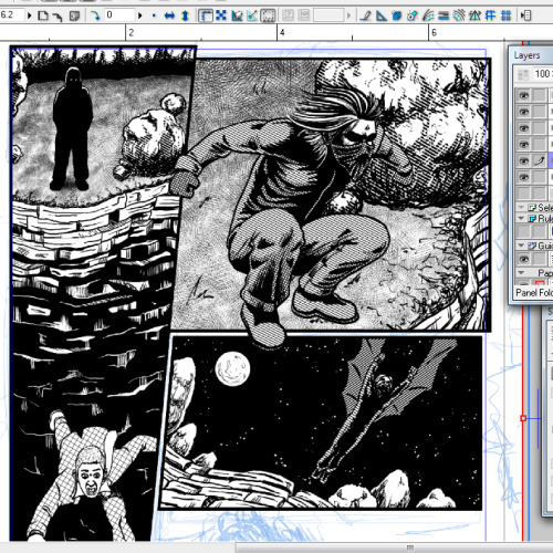 Still working on the Vampire of the Lost Highway story.  Not many pages left to go!