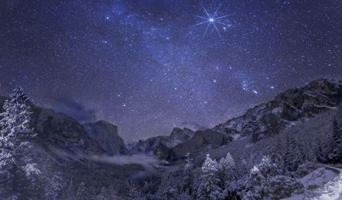 Milky Way over Yosemite, California,