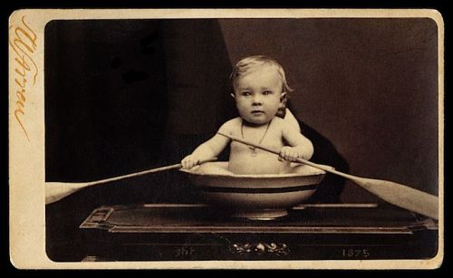 """ Row, Row, Row Your Boat ….. ""   —-  Carte de Visite, 1875 …. Photographer:  William Shaw Warren, Boston"
